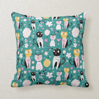 Spring Time Kitty Cushion