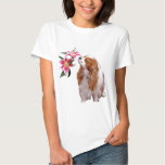 Spring time  with a Cavalier King Charles Spaniel Tee Shirts