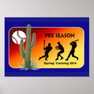 Spring Training Baseball 2014 Cactus Print