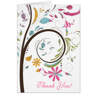 Spring Tree Bridal Shower Thank You Note Card