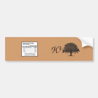 Spring Tree Brown/Black Wedding Water Bottle Label Bumper Sticker