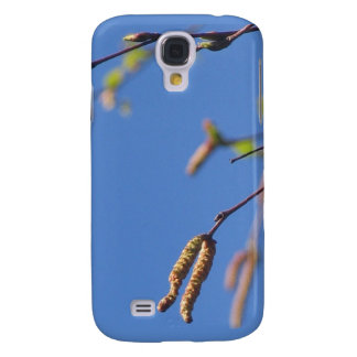 Spring tree catkins on blue sky iphone 3 case