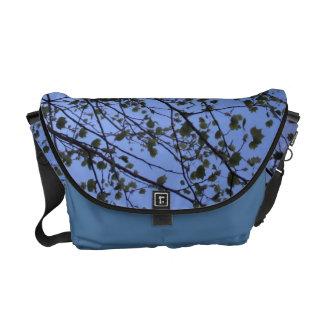 Spring Tree Silhouette Messenger Bag