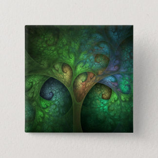 Spring Tree Square Button