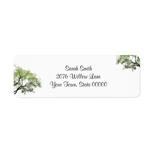 Spring Trees Return Address Label