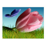 Spring Tulip And Butterfly Postcard