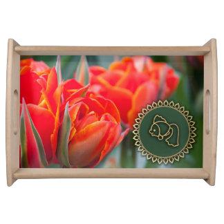 Spring Tulip Design Nowruz Gift Serving Tray