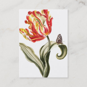 Spring Tulip | Floral Watercolor Business Card