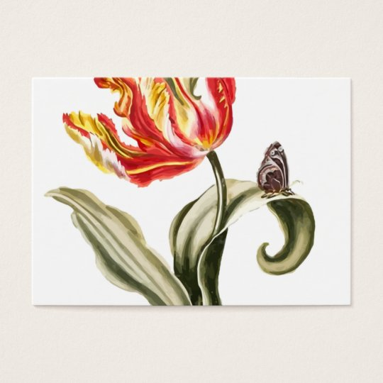 Spring Tulip | Floral Watercolor Landscaping Business Card