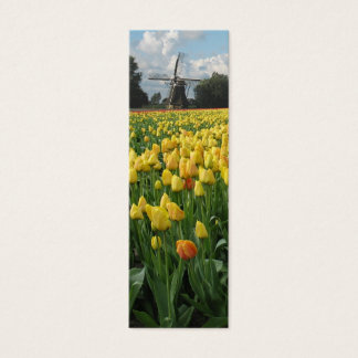 Spring Tulips and Windmill Mini Business Card