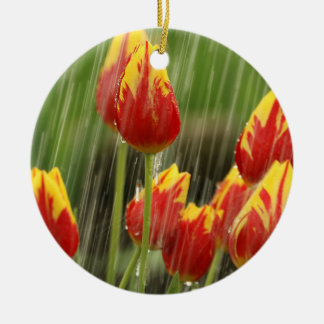 Spring Tulips Christmas Ornament
