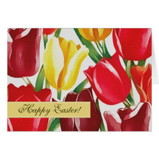 Spring Tulips. Customizable Easter Greeting Cards