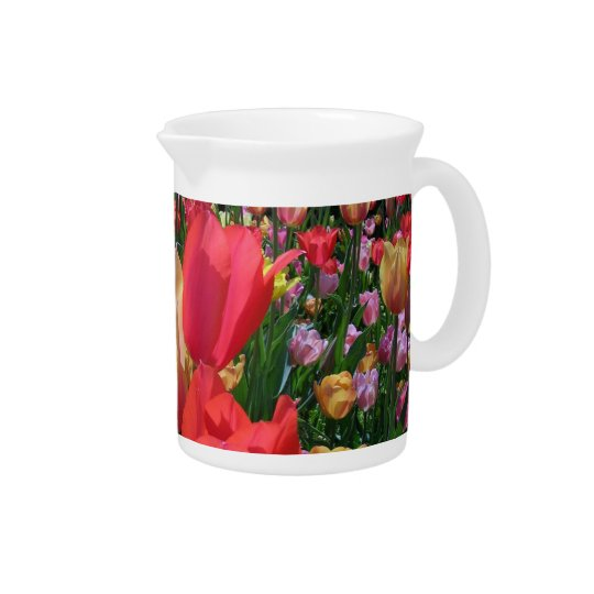 Spring Tulips Drink Pitcher