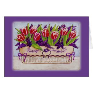 Spring Tulips Easter Card