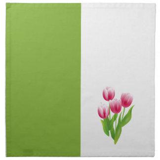 Spring Tulips. Easter Gift Napkins