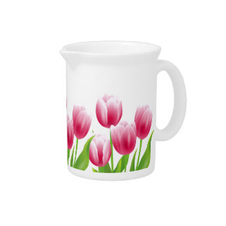 Spring Tulips. Easter Gift Pitchers
