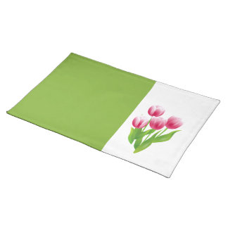 Spring Tulips. Easter Gift Placemats