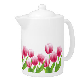 Spring Tulips. Easter Gift Teapots