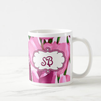 Spring Tulips Mother s Day Gift Monogram Mugs