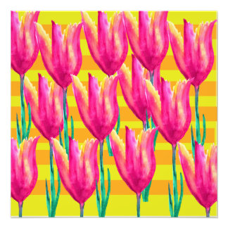 Spring Tulips Photo Paper Print