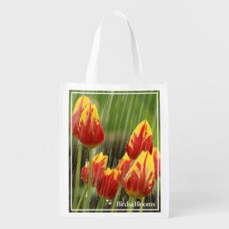Spring Tulips Reusable Grocery Bag