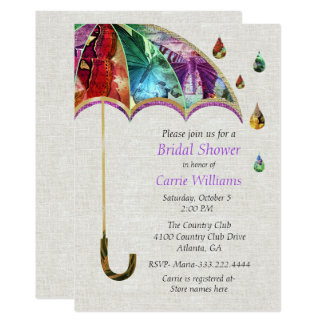 Spring Umbrella Bridal Shower Invitation