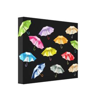Spring Umbrellas Canvas Prints
