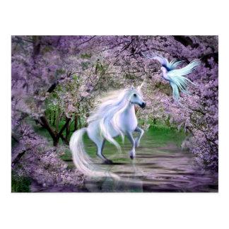 Spring Unicorn fantasy Postcard