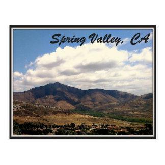 Spring Valley, California Postcard