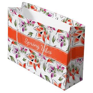 Spring Vibes, Floral Large Gift Bag