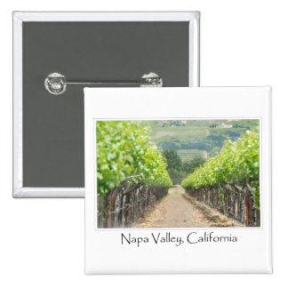 Spring Vineyard in Napa Valley California 15 Cm Square Badge