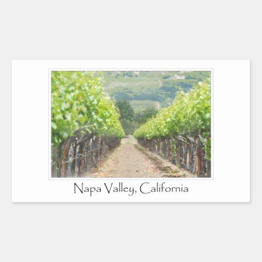 Spring Vineyard in Napa Valley California Rectangular Sticker