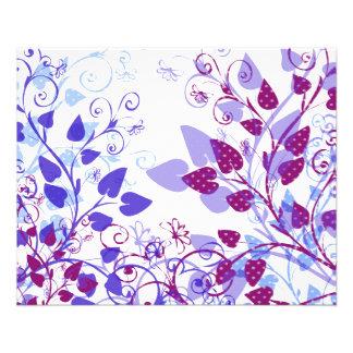 Spring Violet Leaves Flyers