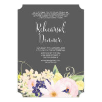 Spring Watercolor Floral Rehearsal Dinner Invite