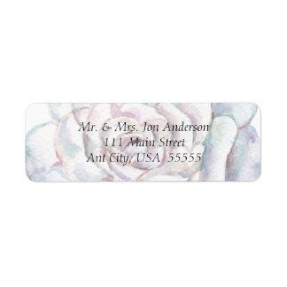 Spring Wedding Address Label with White Wedding