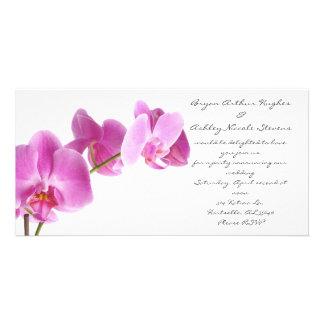 spring wedding photo card template