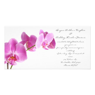 spring wedding photo greeting card