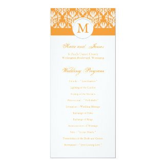 Spring Wedding Program Template 10 Cm X 24 Cm Invitation Card
