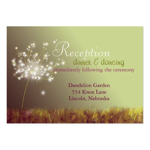 Spring Wedding Reception Enclosure (3.5x2.5) Pack Of Chubby Business Cards