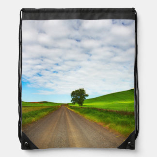 Spring Wheat and Canola Fields Drawstring Bag