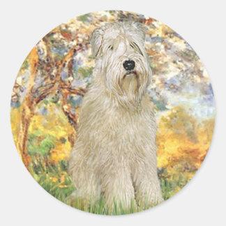 Spring - Wheaten Terrier 7 Round Sticker