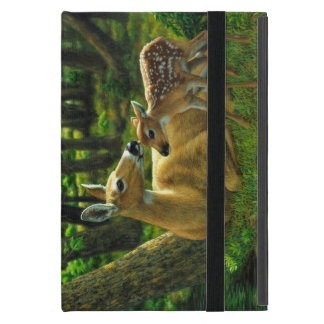 Spring Whitetail Fawn and Mother Deer Cases For iPad Mini