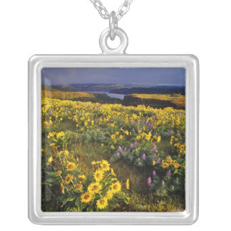 Spring wildflowers in abundance at the Tom Silver Plated Necklace