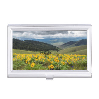 Spring Wildflowers In The Hills Business Card Holder