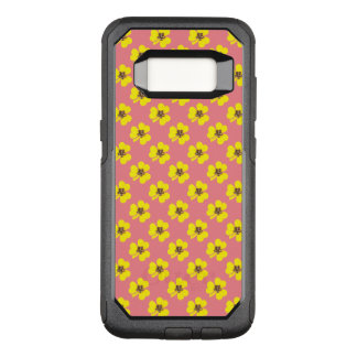 Spring yellow clover and pink background OtterBox commuter samsung galaxy s8 case