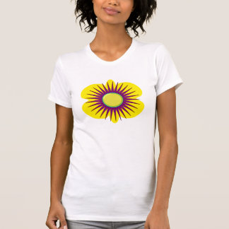 Spring yellow & purple flower in pattern, t-shirt