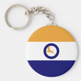 Springbok Flag Basic Round Button Key Ring