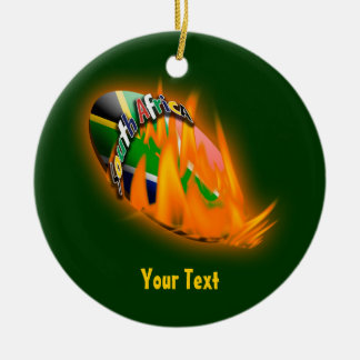 Springbok green & gold supporters gifts patriotic christmas ornament