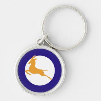 Springbok Silver-Colored Round Key Ring