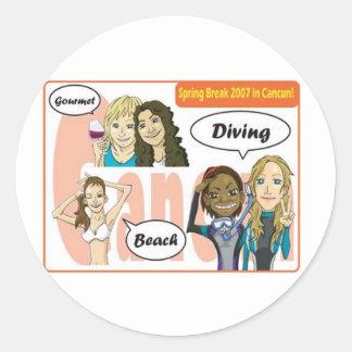 springbreak round sticker